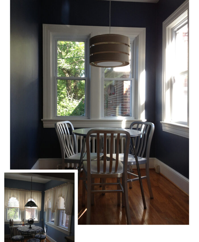Breakfast Nook Before and After